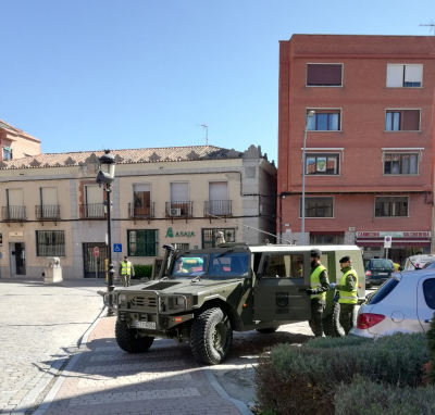 Colaboración del Ejército con la Guardia Civil y Policia Local